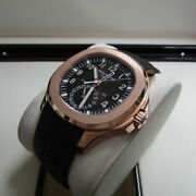 Patek❦ Philippe❦5164r-001 Aquanaut❦dual Time❦extra Large❦18kt Rose❦gold On❦strap