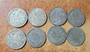 8 Germany Silver Coins, 1 Mark 1905,1907,1910,1874,1906,1901,1904,1909 Years