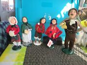 Byers Choice Carolers Christmas Victorian Family Set Of 5- Mint