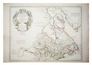 Large Antique French 1783 De L'isle Map Of The United States And Canada.