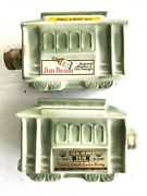 Vintage Lot Two Beam Powell And Mason Streets Green Train Car Decanters Whiskey