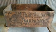 Vintage Berry Brothers Varnishes Wooden Crate Detroit Michigan