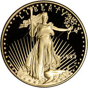 1993-w American Gold Eagle Proof 1 Oz 50 - Coin In Capsule