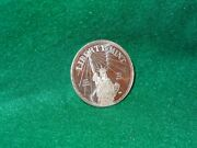 1986 Liberty Mint Statue Of Liberty.999 Fine Silver Art Round One Troy Ounce