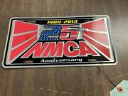 Rare Nmca Drag Racing Muscle Car 25th Anniversary License Plate Nos 1020