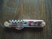 B And G Barton And Guestier French Wines Can/bottle Opener Knife. Browne Vintners