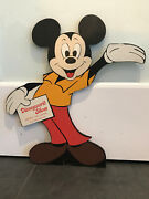 Rare And Authentic Mickey Mouse Wood Display From Disney World Shoe Store