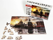 Puzzle Jigsaw 105pieces Wooden New Russian Eco St. Petersbur Gift Vintage Toys
