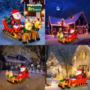 Yunlights Christmas Inflatables, 8ft Christmas Inflatable Santa Claus On Sleigh