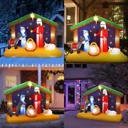 Yunlights 6.5ft Christmas Inflatable Nativity Scene, Blow Up Led Light Christmas