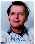 Jack Nicholson One Flew Over The Cuckooand039s Nest Signed 12x15 Photo Bas A57030