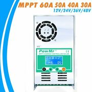 Solar Charge And Discharge Controller Mppt 60a-30a 12v 24v 36v 48vauto For Max