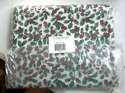 Longaberger Rare Retired Traditional Holly Fabric 5 Yards