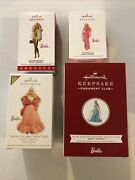 Hallmark Christmas Ornament Barbie Limited Edition Member Exclusive Lot X4 2019