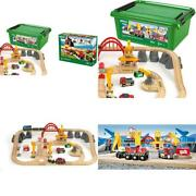 33097 Cargo Railway Deluxe Set | 54 Piece Train Toy With Accessories And Wooden