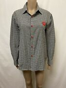 Play Comme Des Garcons Shirt Womens Size Medium Great Cond L/s Gingham Print