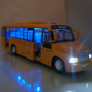 School Bus Models Toy Cars Alloy Light And Sound Children's School Bus Boy Toys