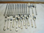 Service For 6 1881 Rogers S.s.s. Oneida Stainless Flatware Celebrity Pattern