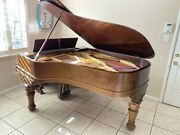 6 Foot Full Emerson Grand Piano. Beautiful Handcrafted Antique Piece.