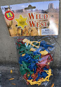 Toy 53pcs Wild West Cowboys, Indians Plastic Figures Native American Nos Sealed