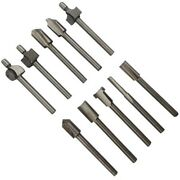 10pcs High-speed Steel Router Bits 1/8 Inch Dremel Foredom Rotary Tool Trimmer