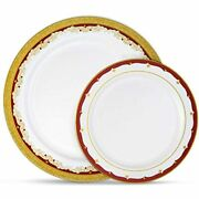 Laura Stein Party Plates Set Of 64 Disposable Combo Set, Plastic Dishes, White 3