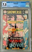 Showcase 75 Cgc 7.5 -- O/w To White Pages 1st And Origin Of Hawk And Dove