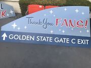 Los Angeles Dodgers Parking Lot Sign Very Rare 'thank You Fans' Golden State