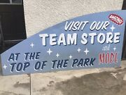 Los Angeles Dodgers Parking Lot Sign Very Rare Double Sided