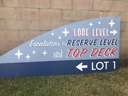 Los Angeles Dodgers Parking Lot Sign Very Rare Single Sided
