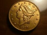 1877-s 20 Liberty Gold Type3 Au Condition...sku 19501