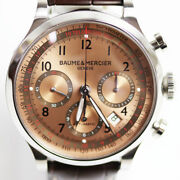 Baume And Mercier Capeland Chrono Moa10004 Automatic Menand039s Wristwatch 42 Mm