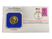 The Presidential Medals Cover Collection - George Washington 1983 24k Gold