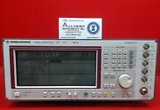 Rohde And Schwarz Sme02 5khz To 1.5ghz Synthesized Signal Generator De12447