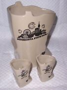 Red Wing Pottery 2014 Minnesota State Fair Sota Pitcher - Shot Glass 199 Of 250