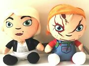 Set Of 2 Chucky And Plush Toys Dolls 9.5 Inches Nwt.