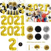 2021 New Years Party Supplies, 56 Pcs New Years Eve Decorations, Include 42 Inch