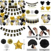 New Years Eve Party Supplies 2020 Decorations Kit, Gold White And Balloons Sets