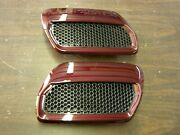 New Take-off Oem Ford 2018 2019 Mustang Hood Heat Extractors Royal Crimson Nos
