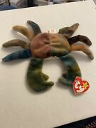 Ty Beanie Babies Claude The Crab With Hangtag Error Puffer The Puffin