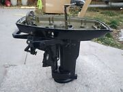 1974 Evinrude Johnson 25 Hp Outboard Lower Cowling Pan And Bracket For 15 Transom