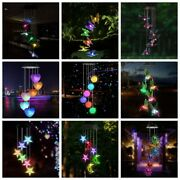 Gift Garden Deco Solar Power Wind Chime Color Changing Water Proof Hanging Light