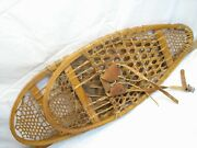 Pair Vintage Wooden Snow Shoes Snowshoes Hunting Cabin Decor 12 X 28
