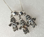 Vintage Sterling Silver Precious Moments Birthday Mothers Angel Pendant Necklace