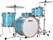 Ludwig Classic Maple Fab 22 3-piece Shell Pack - Glacier Blue Pearl - Nickel