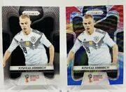 Lot Of 6 2018 Panini Prizm Fifa World Cup Joshua Kimmich Red/blue Wave And Base