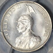 1891 Pcgs Ms 66 German East Africa 1/2 Rupie Mint State Silver Coin 20110503c
