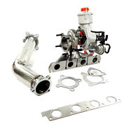 K04 Hybrid Turbocharger F23l + Exhaust Down Pipe For Audi A4 A5 09-11 B8 2.0 Fsi