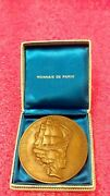 Paris Delannoy Art Deco French Bronze Medal Lady With Ship On The Head 68mm