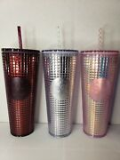 Starbucks Holiday 2020 Cup 24oz Tumbler | Lot Of 3 Berry Plum Pink Silver